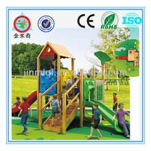 JMQ-P093A Wooden kids playground,playground equipment for special needs children