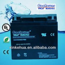 12v36Ah Rechargeable VRLA Storage battery