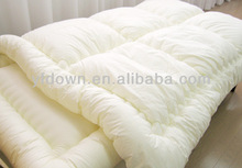 thick big microfiber comforter with yellow fabric