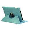 Crocodile rotating stand leather case For tablet PC case for iPad air