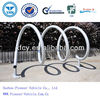 wave galvanized bike rack for parking bikes