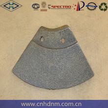 High manganese concrete pump spare parts Dana Parker 114 small leaves for concrete mixer plant spare parts