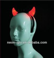 2014 Red Flashing Light up Mini Devil Horn Headband Made in China