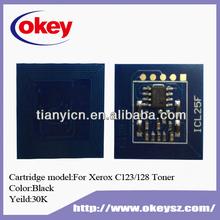New chip for xerox C123, C128 toner reset chip