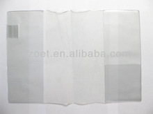 Plastic transparent book sleeve, book cover, plastic jacket for book