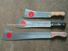 West africa machete,M206A/19.5 inch,plastic handle,polishing silver color blade with long grooved line