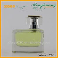 attractive nice man's glass perfume bottles/glass container for man's perfume