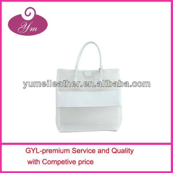 2013 hot selling fashion women custom clear tote bags