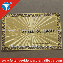High quality new fashion new fashion fine art customized glossy metal membership card for sale