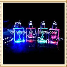 Professional 3d laser crystal keyrings For Wedding Gift
