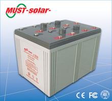 <MUST Solar>electric power solar battery 2V 300ah