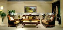 Luxury Elegant Solid Wooden Living Room Sofa