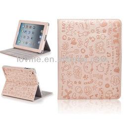Cartoon Pink Ultra Slim PU Leather iPad 2/3/4 Smart Case Cover with Sleep Wake