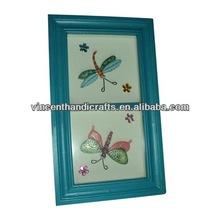 Pared de la primavera de decoración de madera de estilo libélulas imagen