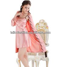 sólido espaguetis correa de las mujeres ropa de dormir túnica con 2 pcs