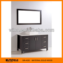 2014 New Modern Soild Wood Bathroom Cabinet Set Bathroom Vanity Made In China