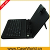 Luxury 8 inch tablet pc leather keyboard case for tablet pc