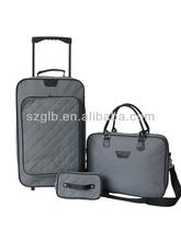 Jacquard CIRCLE DOT grey luggage 3 pc set