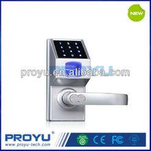 Fingerprint Door Lock PY-66307 with Touch Screen Keypad Unlock via Fingerprint Password Override Key Fit for Home Office