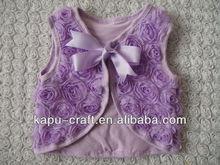 Rosette baby vest knitting pattern baby shrugs