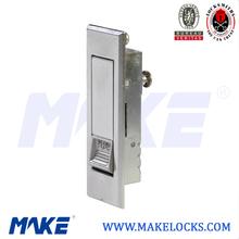 Sliding cabinet door push lock