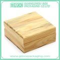 Cajas de madera de pino natural, diseño simple, tamaño pequeño