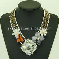 Diamond Chain Germanium Magnetic Necklace Flower Jewelry Pendant (SWTN935)