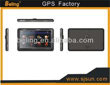 Factory 7 inch gps navigation with dvr,camera,blutooth,av-in