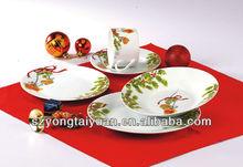 new year design christomas design porcelain dinner set plate set