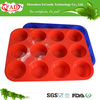 High Quality Food Grade Cook Essentials Soft 12 Cup Silicone Cake Muffin Pan