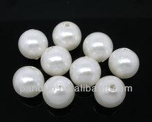 100 PCs Pearl Imitation Round Acrylic Beads 12mm Dia.,8years