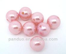 100 PCs Pearl Imitation Round Acrylic Beads 12mm Dia.,dorabeads