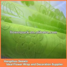 Moss Green Flock Organza Manufacturer