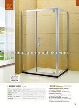 Retângulo único porta do banheiro de vidro contador top