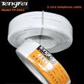 De alta calidad de color blanco 0.4mm rj11 teléfono conectar el cable