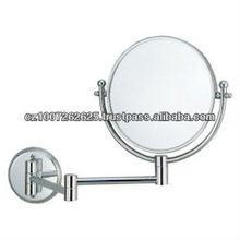 Brass Bathroom accessory make-Up Mirror - WallMount