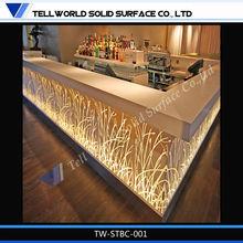 Hot sale table bar led solid surface bar counter LED bar table