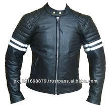 Leather black Fashion Coat Waterproof men Biker Jacket shiny