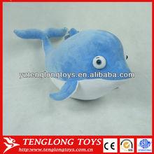 Promotional toys stuffed sea animal plush dolphin wholesale