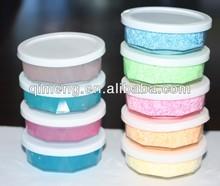 beautiful colorful foam putty