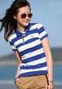 gilr's custom slim fit stripe polo t shirt