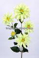 27466pn artificials de haste longa poliéster artificial dália flores de seda