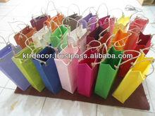Handmade paper wine bag