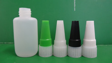 HDPE plastic bottles/ Cyanoacrylate glue bottle / screw cap JB-001