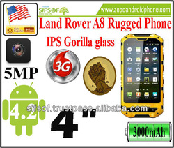 Land Rover A8 MTK6572 IP68 Waterproof Dustproof Shockproof IPS Gorilla glass Capacitive screen GPS rugged phone