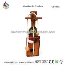 adult wooden puzzles Wine Bottle Puzzle