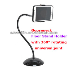 Freeshipping dropship Gooseneck Floor Stand Holder for mobile phone 5.5inch below