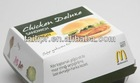 Custom recycle paper hamburger box/food sushi packaging box /square food packaging box