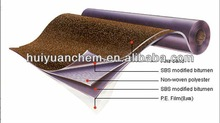 granule 3mm to 5mm high quality flexible waterproofing rubber roofing membrane
