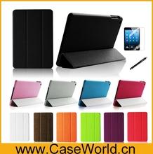 For iPad mini 2 smart leather cover, pu leather cover for ipad mini 2